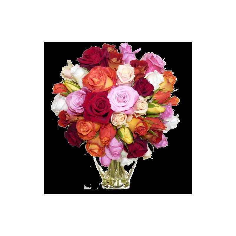 bouquet de roses lilas rose. Black Bedroom Furniture Sets. Home Design Ideas