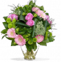 Bouquet Clos Romantique : roses, germinis, alstroemeria - Lilas Rose Boutique