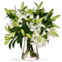 Bouquet Lys oriental blanc