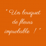 Bouquet l'Improbable orange
